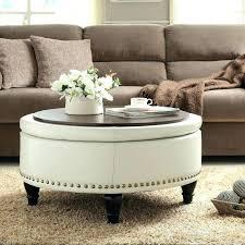 white round tufted ottoman circular leather ottoman coffee table round coffee table ottoman