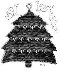 christmas in july tree potholder crochet pattern vintage crafts