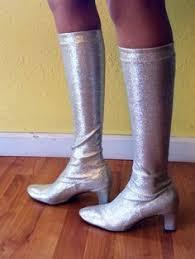 60s 70s mod knee high go go boots snake skin print vinyl leather