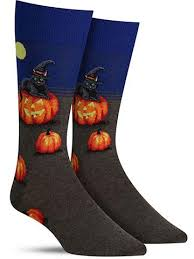 Cat Witch Cool Halloween Socks For Men