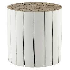 bout de canapé bois bout de canapé en bois blanc d 41 cm maisons du monde
