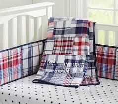 Plaid Crib Bedding I M Still Gaga For Nautical Madras Nursery Bedding Set
