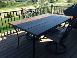 outdoor table top replacement wood if your glass table breaks replace the top with a wood top great