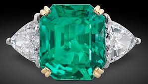 emerald colombian emerald and diamond ring featured at m s rau antiques
