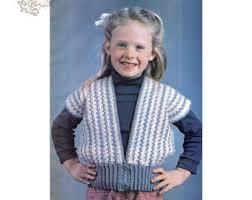 crochet girls vest etsy