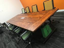 Staples Conference Tables Industrial Conference Room Table The Workshop Of Matt Schnell