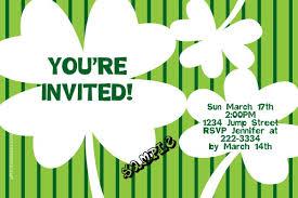 st patricks day 4 leaf clover st patty u0027s day invitations