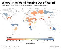this map shows where the world u0027s water is drying up u2013 mother jones