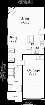 narrow house floor plans duplex house plans back to back house plans narrow house plans