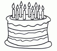 printable birthday cake coloring pages coloring me within birthday