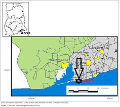 Map Of Ghana Assessing The Impact Of Sea Level Rise On A Vulnerable Coastal