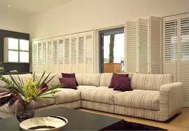 Classic Living Room Dining Room Elegant White Armchairs With Norman Shutters And