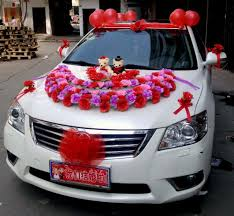 flower decoration of cars decorating of party