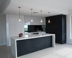 White Kitchen Island Lighting Kitchen Contemporary With Black And White Contemporary Kitchen