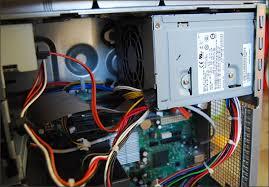 comment installer un ordinateur de bureau montage d une alimentation pc brancher les composants
