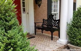 two new benches for the front porch