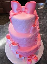 mymonicakes three tier quilted pink u0026 pearl baby shower cake with