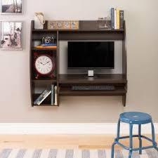 prepac rich espresso desk with shelves eehw 0201 1 the home depot