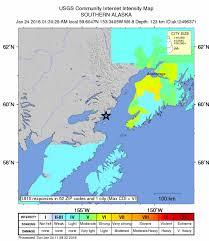 Uaa Map Magnitude 7 1 Quake Rocks Alaska Damaging Roads And Displacing
