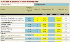 Remodel Cost Spreadsheet Kitchen Remodel Shelter Kitchen Remodel Cost Estimator Much