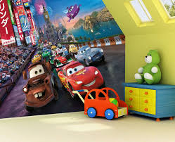 cars sally and lightning mcqueen kiss disney cars race photo wall mural 254 x 183cm amazon co uk