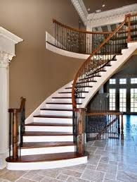 Stairway Banisters Love The Black Spindles Amazing Stairs Pinterest Split