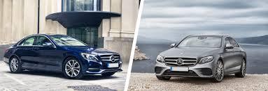 comparatif si e auto b mercedes c class vs mercedes e class comparison carwow