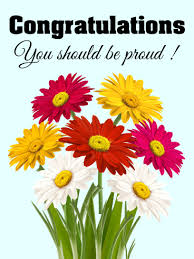 congratulations flowers you should be proud congratulations card birthday