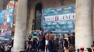 rock garden covent garden anthony joshua and dominic breazeale face off in covent garden