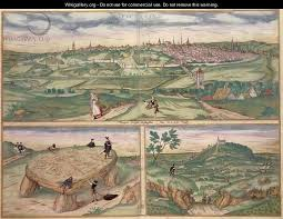map of poitiers map of poitiers from civitates orbis terrarum after hoefnagel