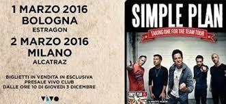 vasco bologna biglietti simple plan in concerto a bologna e nel 2016 biglietti in