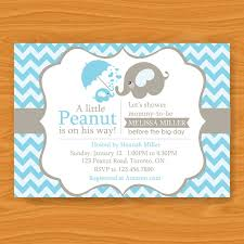 baby shower invitations for boy elephant baby shower invitations kawaiitheo