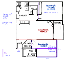 apartment square footage exle of square footage 2 bedroom apartment