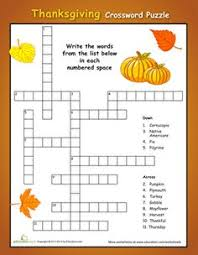 easy thanksgiving crossword puzzle thanksgiving crossword puzzle