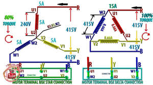 star delta connection for induction motor why starter throughout