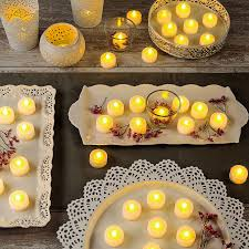 lights flameless candles tea lights votives alma white