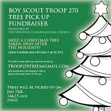 bsa troop 270 annual christmas tree pickup in newtown
