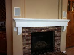 painting a wood fireplace mantel best painted fireplace mantels