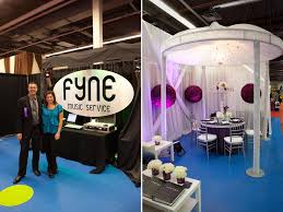 wedding expo backdrop bridal show booth ideas fyne service and signature events