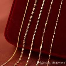 chain necklace types images Golden chain necklace 5 types fashion women diy necklace pendant jpg