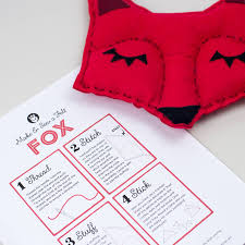 fox craft sewing kit for children by laura danby
