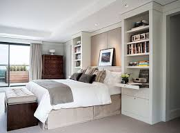 headboard with built in bedside tables i like the built in bookcases night tables that frame the bed