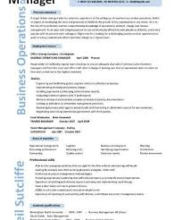 Operations Manager Resume Examples by Surprising Idea Operation Manager Resume 7 Business Operations