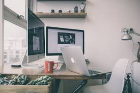 free images laptop desk macbook apple table floor home