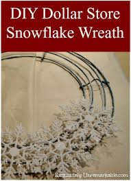 dollar store snowflake wreath snowflake wreath dollar stores