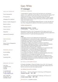it management resume examples facilities management resume