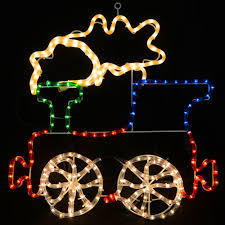 christmas concepts festive coloured mains voltage christmas train