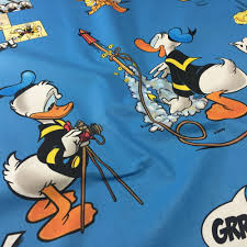 discover direct licensed disney donald duck sketch blue cotton