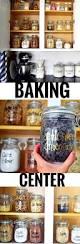 Pantry Of Simple But Professional Baking Supplies Storage And Organization Baking Center Baking