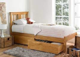 Light Wood Bedroom Single Wooden Bed Base With Drawers Drawer Ideas